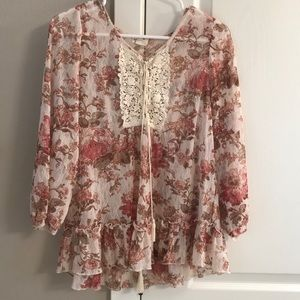 Cute floral tunic from Denim&Supply. Size S/P